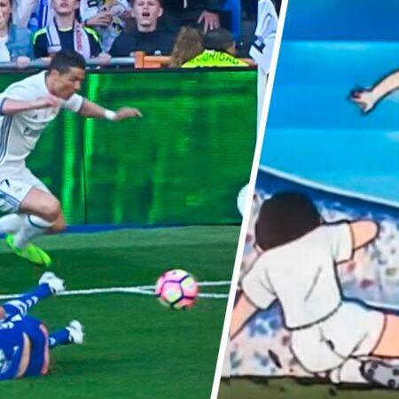 A grande jogada de Cristiano Ronaldo que nos fez recordar Oliver e Benji!