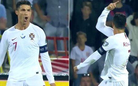 Cristiano Ronaldo mostra aos adeptos da Sérvia porque é que nunca lhe deves gritar por Leo Messi