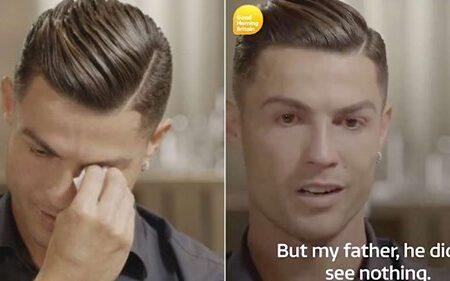 Cristiano Ronaldo não conseguiu conter as lágrimas em entrevista com Piers Morgan
