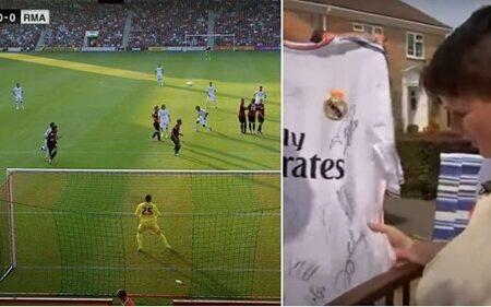 Recordemos o dia em que Cristiano Ronaldo bateu um livre direto tão poderoso que partiu o pulso de uma criança