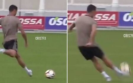 O movimento que Cristiano Ronaldo ainda consegue fazer com a bola é assustador