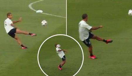A selecção espanhola divulgou um vídeo de Thiago Alcântara nos treinos e os adeptos não conseguem parar de o ver