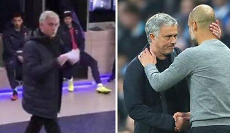 """José Mourinho chama Manchester City """"uma equipa de c*brões"""" em conversa explosiva com a equipa durante o intervalo"""