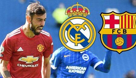 Barcelona e Real Madrid prontos para batalhar pela transferência de Bruno Fernandes