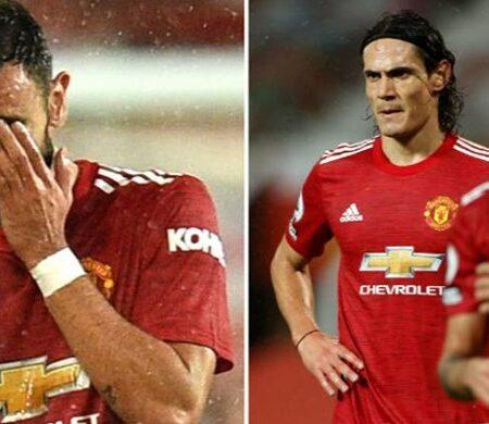 """A linguagem corporal de Bruno Fernandes mostra que ele """"não está bem"""" no Manchester United…"""