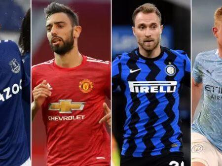 Os 10 melhores playmakers no mundo do futebol foram nomeados