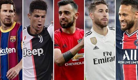 Os 50 melhores futebolistas da atualidade foram revelados: 4 são portugueses