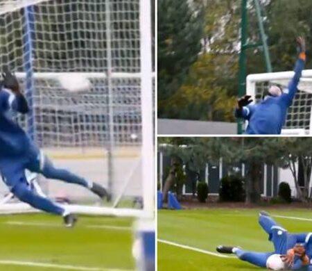 Vídeo incrível de Petr Cech, com 38 anos, a treinar pelo Chelsea torna-se viral