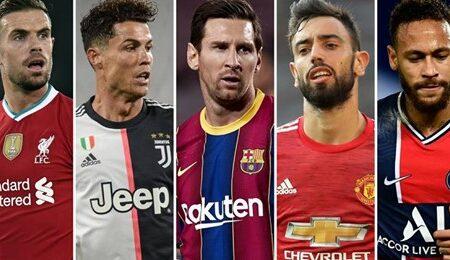 Os 25 melhores jogadores do mundo na temporada 2019/2020 foram escolhidos