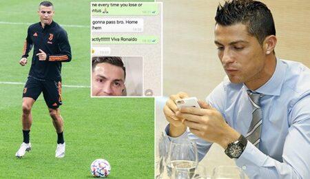 Foram 'leakadas' mensagens de Cristiano Ronaldo via WhatsApp que provam o porquê de ele ser um dos melhores