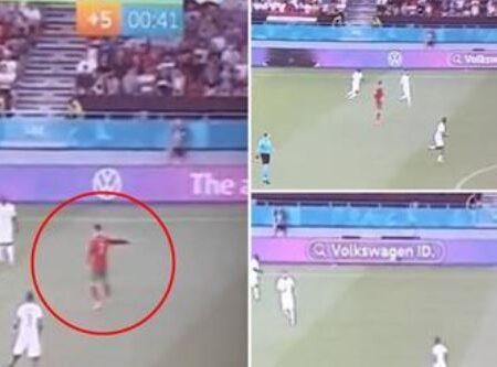 Karim Benzema seguiu as instruções de Cristiano Ronaldo sobre para quem passar durante o Portugal vs. França