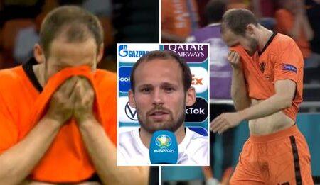Daley Blind deixou o campo em lágrimas frente à Ucrânia e quase que começou a chorar a meio de uma entrevista