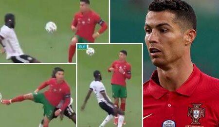 Cristiano Ronaldo criticado depois dos toques artísticos que fez contra Antonio Rudiger na derrota de Portugal contra a Alemanha