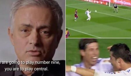 Vídeo de José Mourinho a transformar Ronaldo num número 9 mostra que ele é um GÉNIO