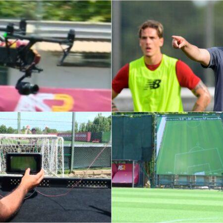 José Mourinho utiliza drones para revolucionar os treinos de pré-epoca da Roma