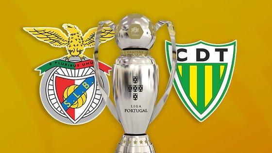 Benfica vence o Tondela por 2-1