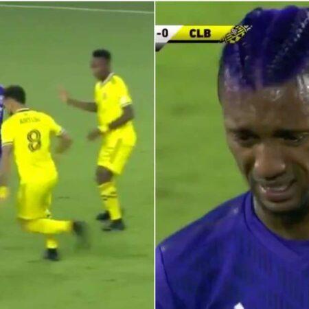 Nani deixa o relvado em lágrimas depois de cartão vermelho duvidoso em jogo da Major League Soccer