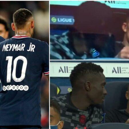 Kylian Mbappé apanhado a reclamar de Neymar no último jogo do Paris Saint-Germain