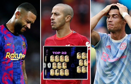FIFA 22: Gamer expõe as classificações de 10 jogadores que simplesmente não fazem sentido
