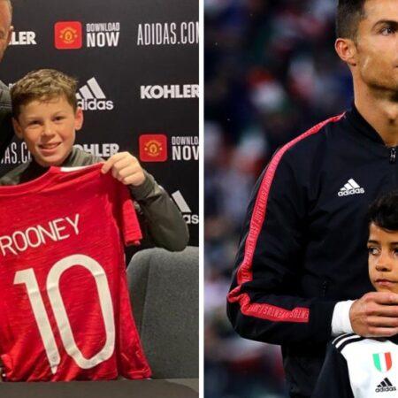 Os filhos de Wayne Rooney e de Cristiano Ronaldo vão ser colegas de equipa na academia do Manchester United