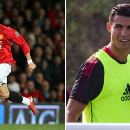 Os treinadores do Manchester United estão pasmados com as sessões de treino de Cristiano Ronaldo