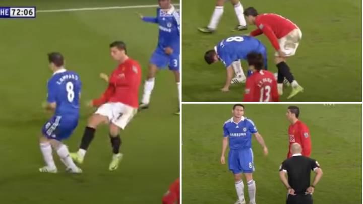 O momento em que Frank Lampard mostrou um desportivismo incrível ao impedir um cartão vermelho de ser mostrado ao então adversário Cristiano Ronaldo