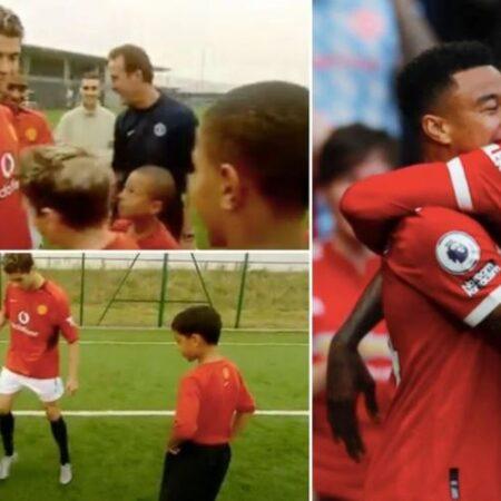 Vídeo de Cristiano Ronaldo a ensinar fintas a um Jesse Lingard com 10 anos de idade torna-se viral