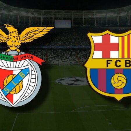 Benfica vence o Barcelona por 3-0