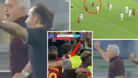 José Mourinho recria famosa celebração do FC Porto vs Manchester United depois de vitória dramática da Roma