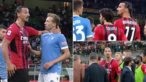 """Zlatan Ibrahimović faz """"bullying"""" a Lucas Leiva e nenhum jogador da Lazio se atreveu a confrontá-lo"""