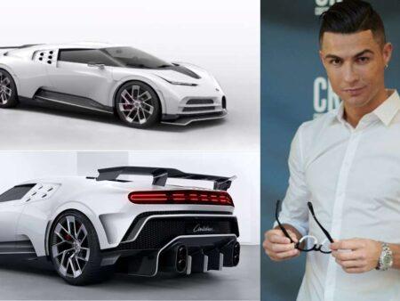 Cristiano Ronaldo gastou 9.5 milhões de euros em edição limitada do Bugatti Centodieci, sendo que só foram produzidos 10